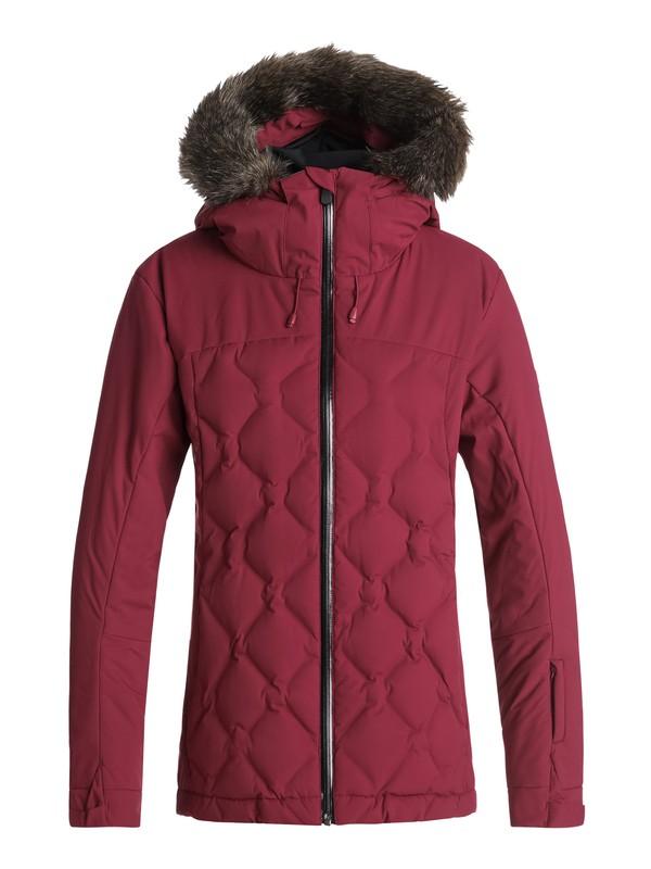 0 Breeze - Veste de snow matelassée pour Femme Rouge ERJTJ03154 Roxy