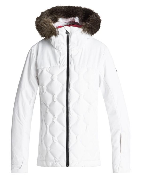 0 Breeze - Veste de snow matelassée pour Femme Blanc ERJTJ03154 Roxy