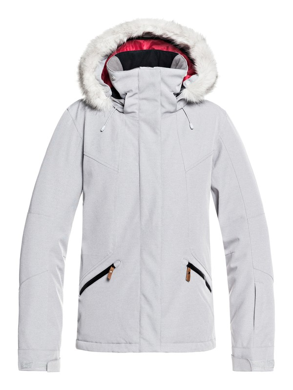 0 Atmosphere Snow Jacket Grey ERJTJ03158 Roxy