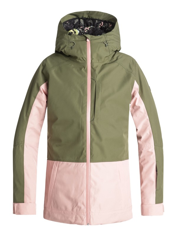 0 Torah Bright Snowflake Snow Jacket Green ERJTJ03163 Roxy