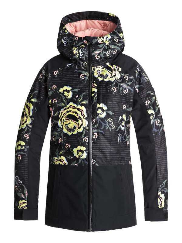 0 Torah Bright Snowflake Snow Jacket Black ERJTJ03163 Roxy