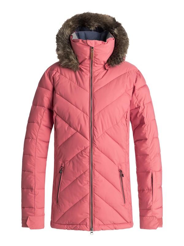 0 Quinn Snow Jacket Pink ERJTJ03165 Roxy