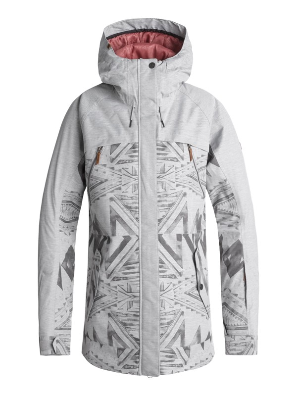0 Tribe Snow Jacket Grey ERJTJ03166 Roxy