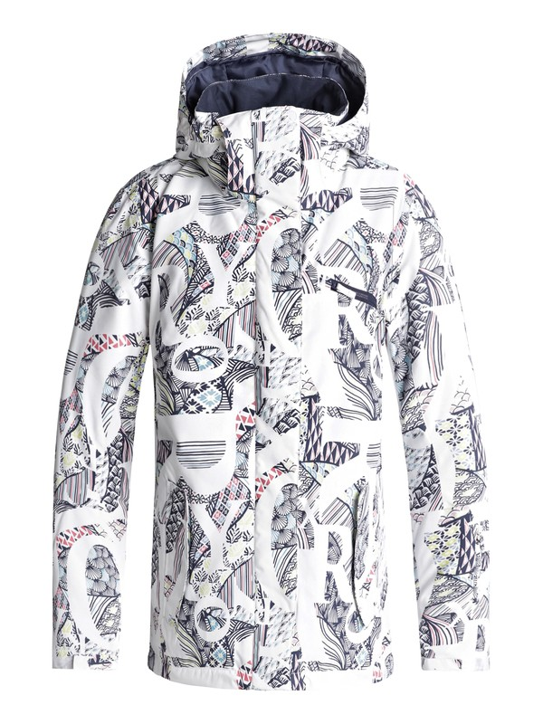 0 ROXY Jetty Snow Jacket White ERJTJ03175 Roxy