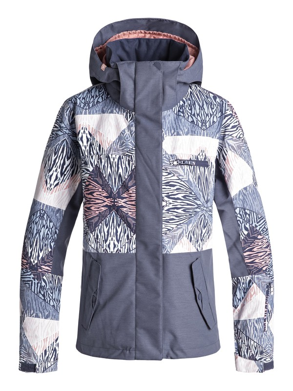0 ROXY Jetty Block Snow Jacket Blue ERJTJ03176 Roxy