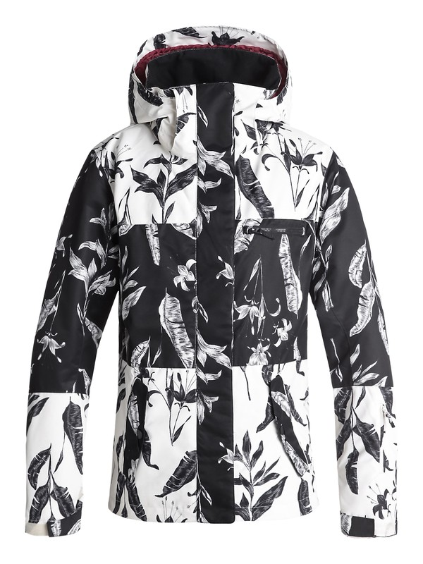 0 ROXY Jetty Block Snow Jacket Black ERJTJ03176 Roxy