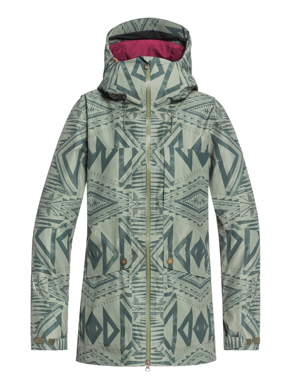 0 Glade 2L GORE-TEX® Snow Jacket Green ERJTJ03192 Roxy