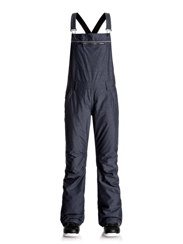 0 Non Stop - Bib Snow Pants Blue ERJTP03042 Roxy