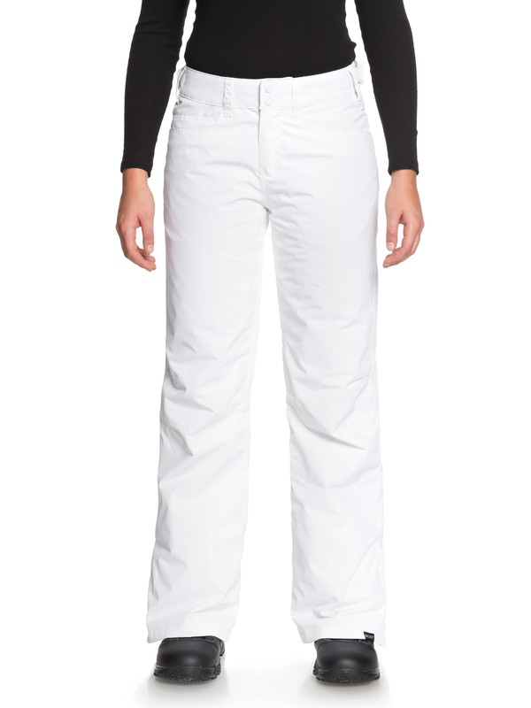 0 Backyard Snow Pants White ERJTP03056 Roxy