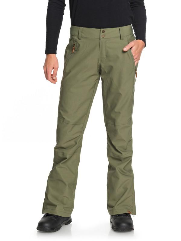 0 Cabin - Shell Snow Pants for Women Green ERJTP03061 Roxy