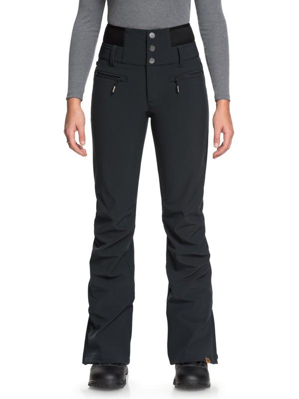 0 Rising High - Shell snowboardbroek voor Dames Black ERJTP03067 Roxy