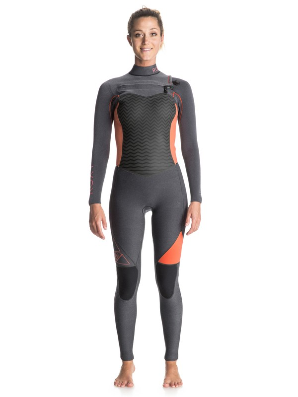 0 Performance 4/3mm - Chest Zip Full Wetsuit Grey ERJW103001 Roxy
