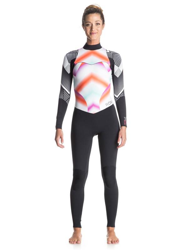 0 Pop Surf 3/2mm Back Zip Wetsuit  ERJW103015 Roxy