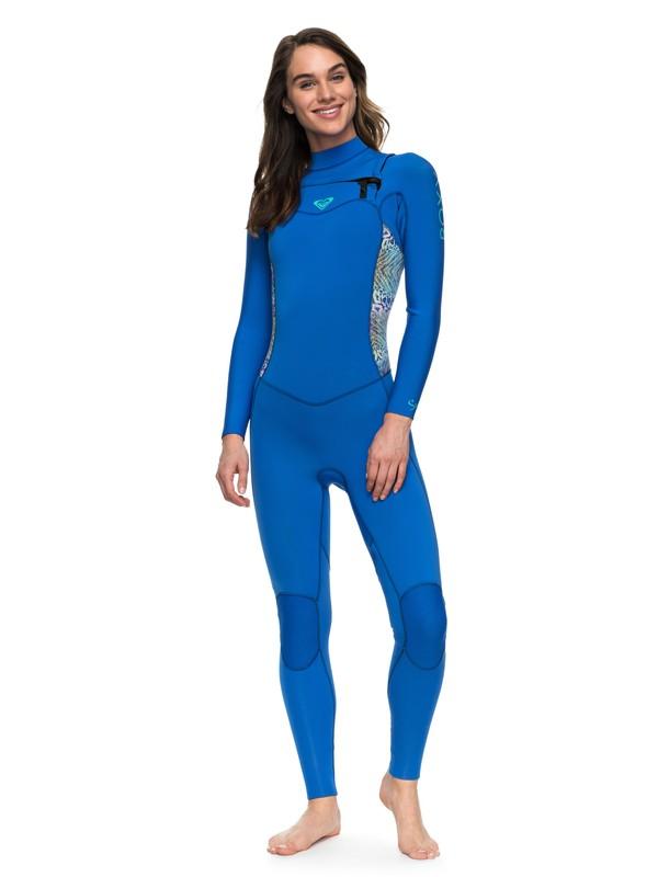 0 3/2mm Syncro Series - Chest Zip GBS Wetsuit for Women Blue ERJW103025 Roxy