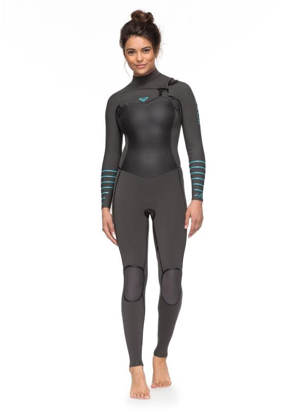 0 4/3mm Syncro Plus Chest Zip Wetsuit Grey ERJW103030 Roxy