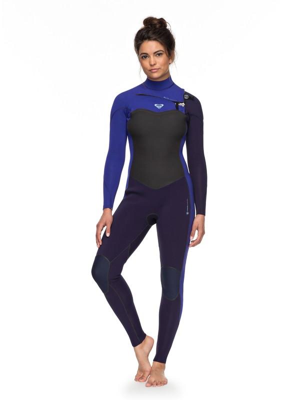 0 3/2mm Performance  Chest Zip Wetsuit Blue ERJW103031 Roxy