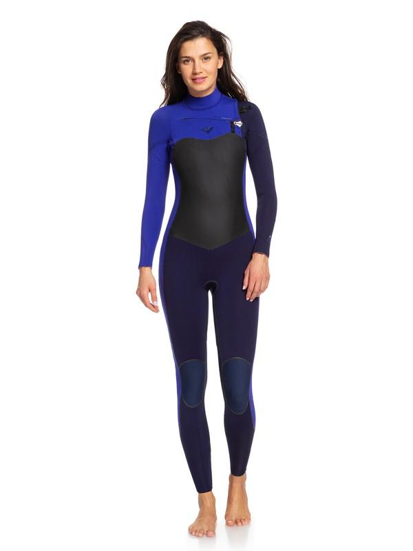 0 4/3mm Performance - Combinaison zip poitrine pour Femme Bleu ERJW103032 Roxy