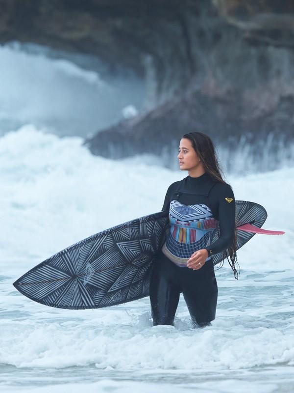 5 3/2mm POP Surf - Wetsuit met een borstrits voor Dames Black ERJW103036 Roxy