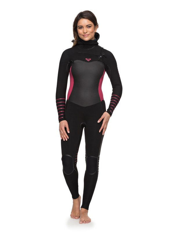 0 5/4/3mm Syncro Plus - Hooded Chest Zip Wetsuit  ERJW203002 Roxy