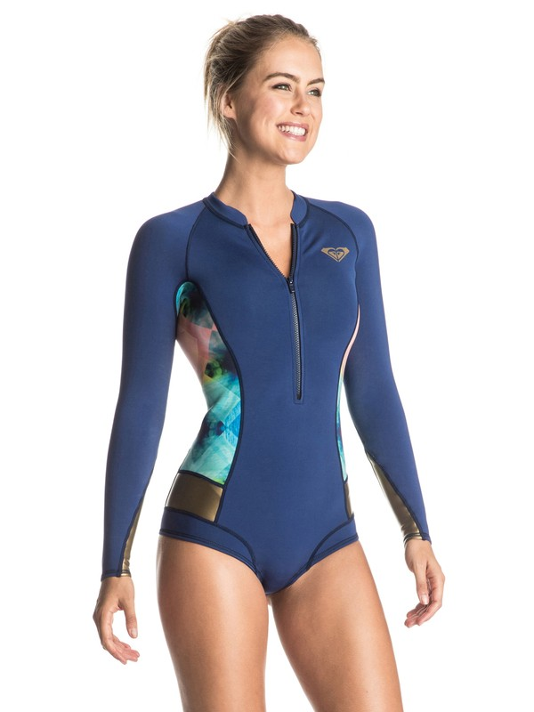 0 Pop Surf 2mm Long Sleeve One Piece Wetsuit  ERJW403008 Roxy