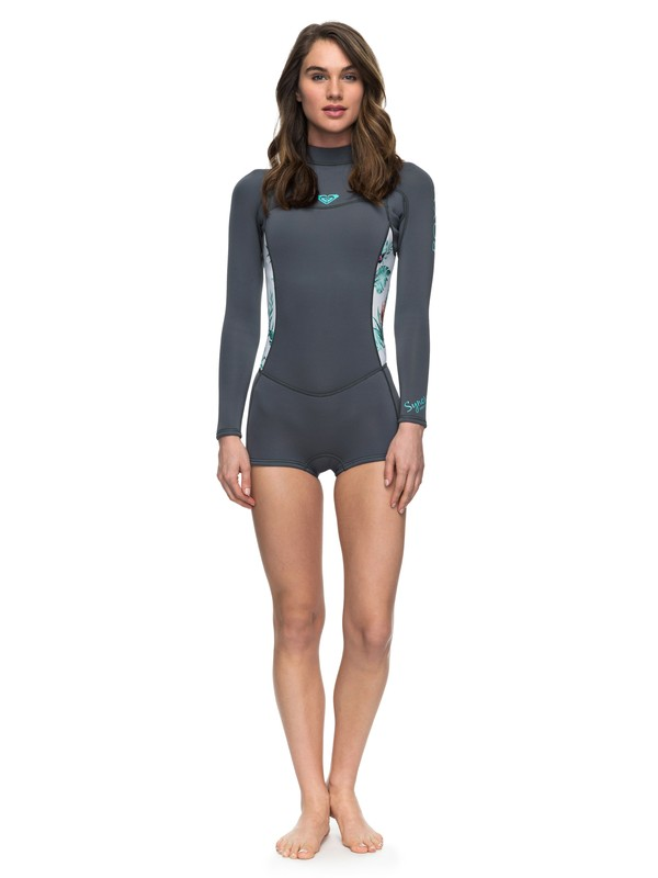0 2/2mm Syncro Series - Long Sleeve Back Zip FLT Springsuit Blue ERJW403014 Roxy