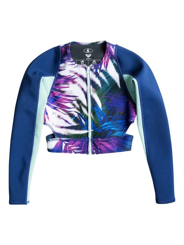 Caribbean Sunset Cropped Wetsuit Jacket Erjw803001 Roxy