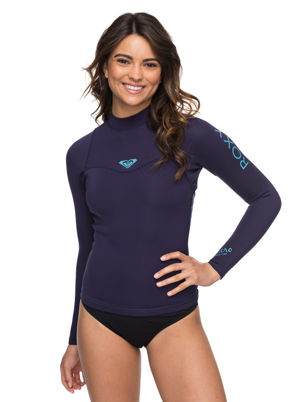0 1mm Syncro Series - Long Sleeve Wetsuit Top for Women Blue ERJW803008 Roxy