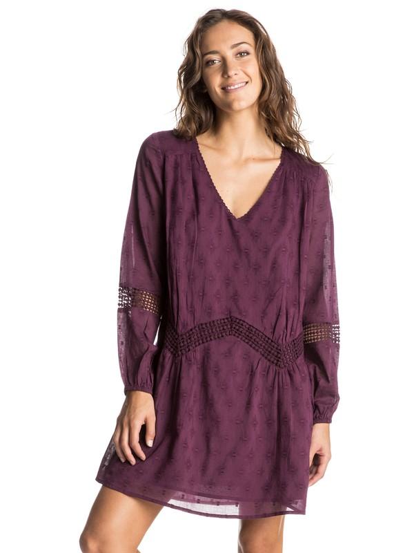0 Cali Stars - Langarm-Kleid Violett ERJWD03068 Roxy