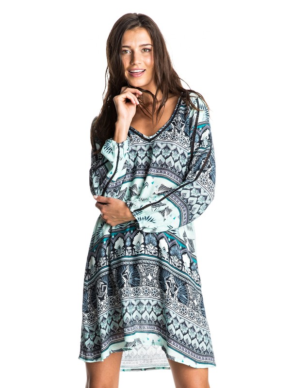0 Havana Long Sleeve Dress  ERJWD03132 Roxy