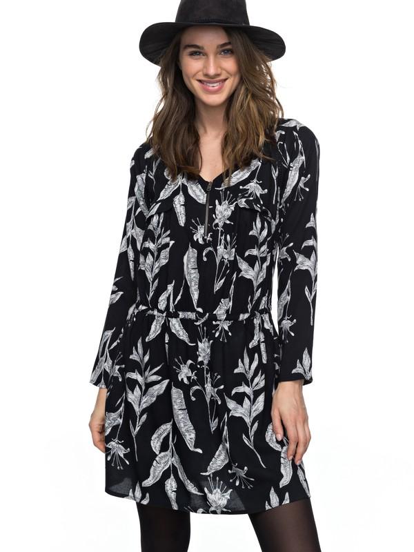 0 Sorrento Peninsula - Vestido De Manga Larga para Mujer Negro ERJWD03160 Roxy