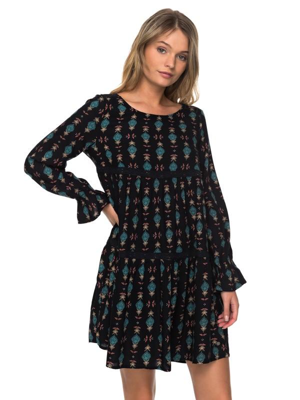 0 Sweetness Seas Long Sleeve Dress Black ERJWD03177 Roxy