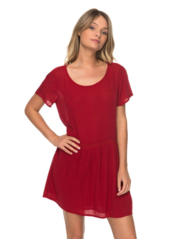 0 Bungalow Hide Out Short Sleeve Dress  ERJWD03181 Roxy