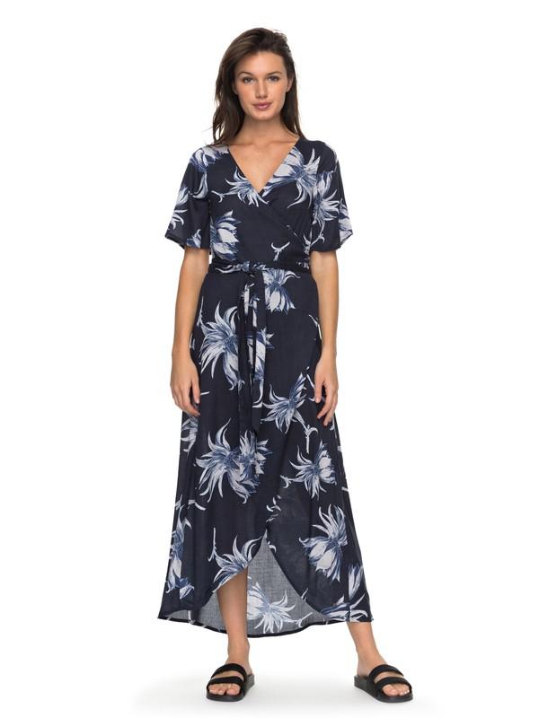 0 Keep The Tempo Maxi Wrap Dress  ERJWD03182 Roxy