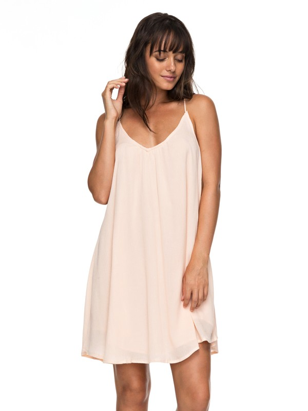 0 Great Intentions - Strappy Jurk Pink ERJWD03195 Roxy