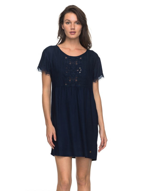 0 Dark To Light - Kurzarm-Kleid für Frauen Blau ERJWD03204 Roxy