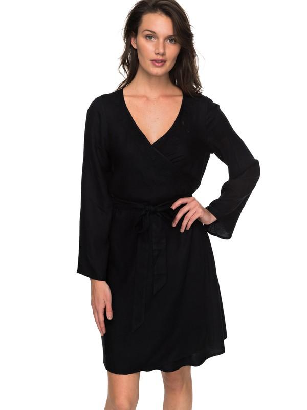 0 Small Hours - Wrap Dress for Women Black ERJWD03213 Roxy