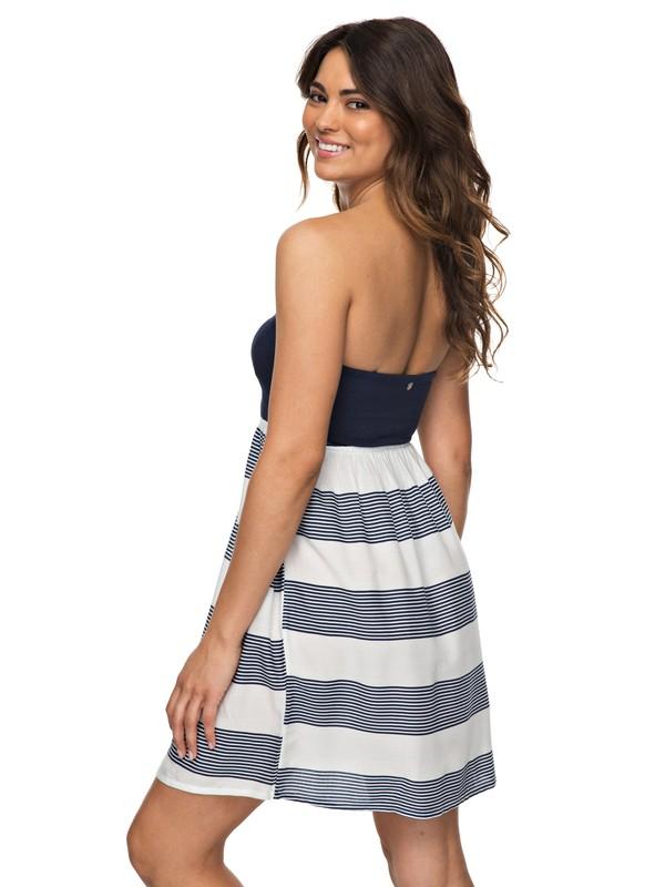 0 Ocean Romance Strappless Dress White ERJWD03218 Roxy