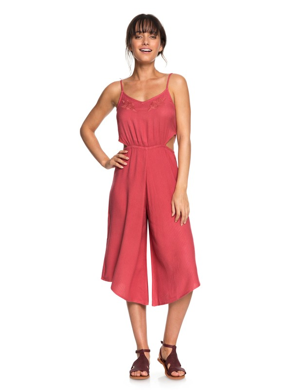 0 Waterfall Reflect Side Cutout Jumpsuit Pink ERJWD03232 Roxy