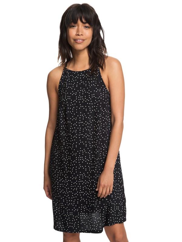 0 City Shield Strappy Dress Black ERJWD03244 Roxy