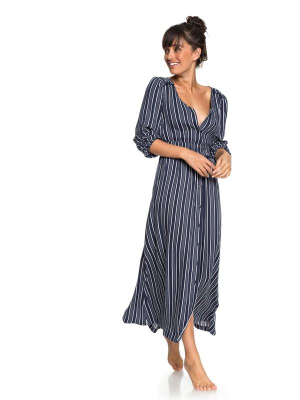 0 Subway Atmosphere - Long Sleeve Maxi Dress for Women Blue ERJWD03259 Roxy