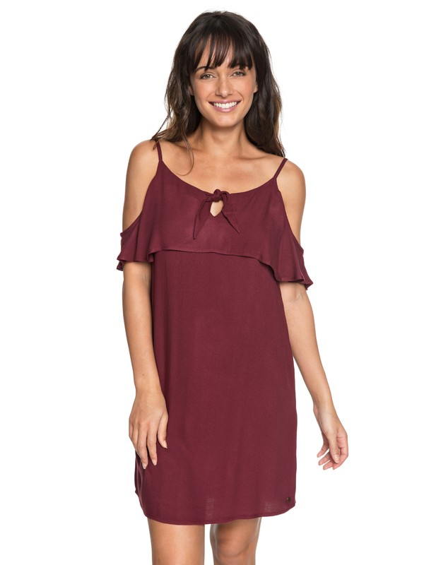0 Still Waking Up Strappy Dress Red ERJWD03264 Roxy