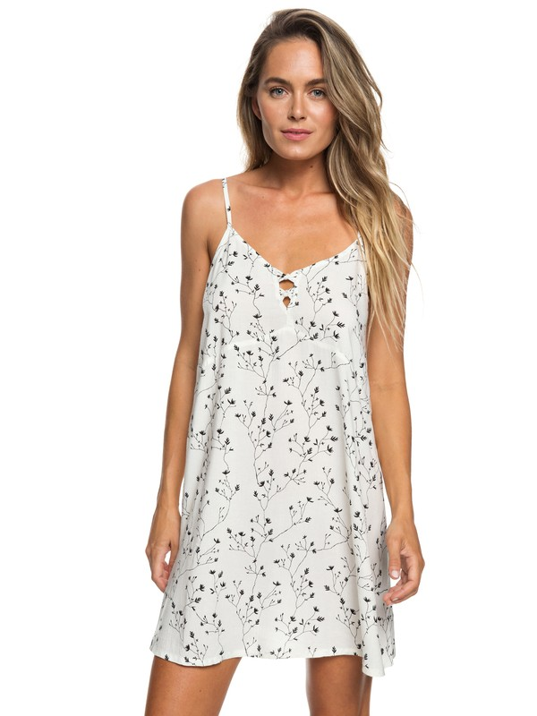 0 Vestido de tirantes Full Bloom Blanco ERJWD03272 Roxy