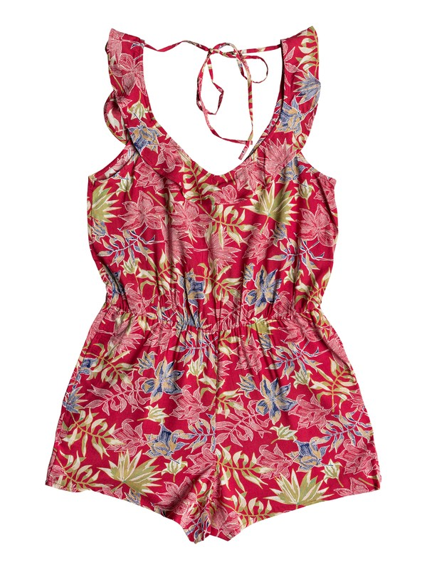 0 Temple Of Tropics Strappy Romper Red ERJWD03274 Roxy