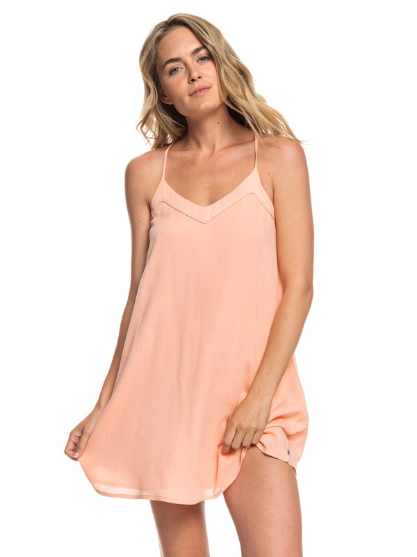 0 Off We Go Strappy Dress Pink ERJWD03294 Roxy