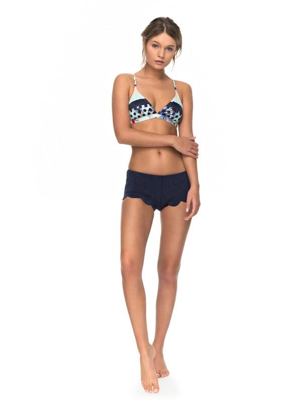0 1mm Pop Surf Scallop Neoprene Shorts Blue ERJWH03011 Roxy