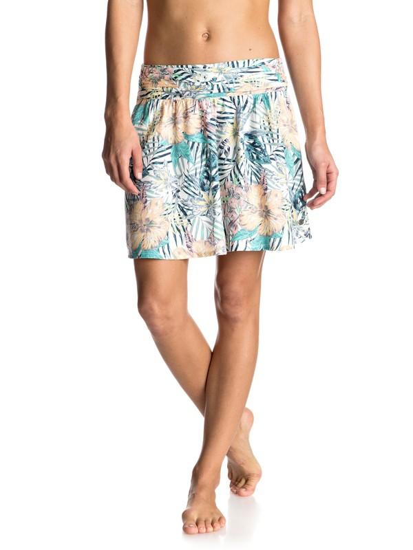 0 Ultra Violet - Skater Skirt White ERJWK03023 Roxy