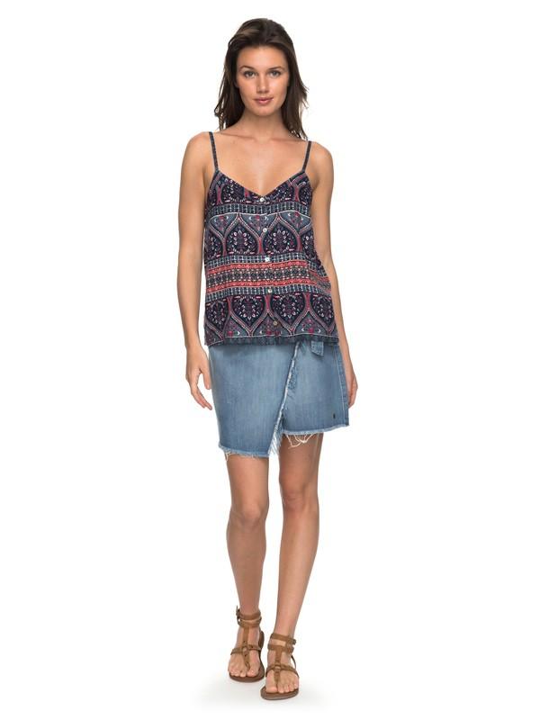 0 Punta Brea - Wrap Denim Skirt for Women Blue ERJWK03034 Roxy