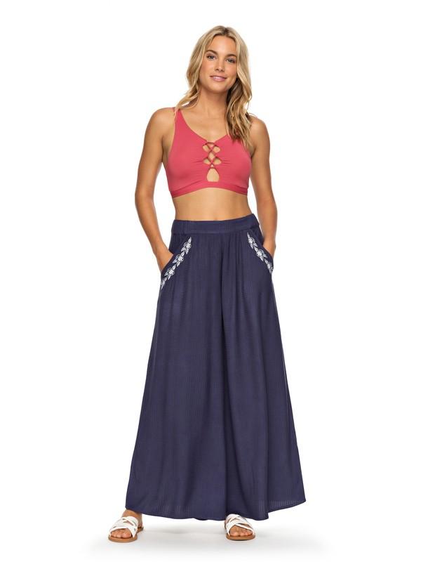 0 Western Sunset Wide Leg Pants Blue ERJWK03038 Roxy