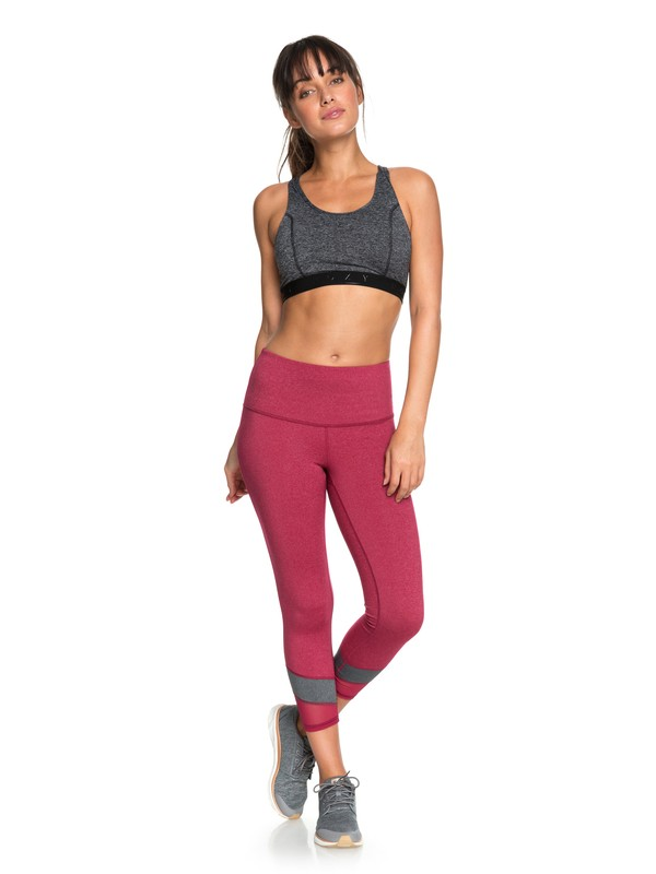0 Mad About You - Capri Yoga Leggings for Women Red ERJWP03019 Roxy
