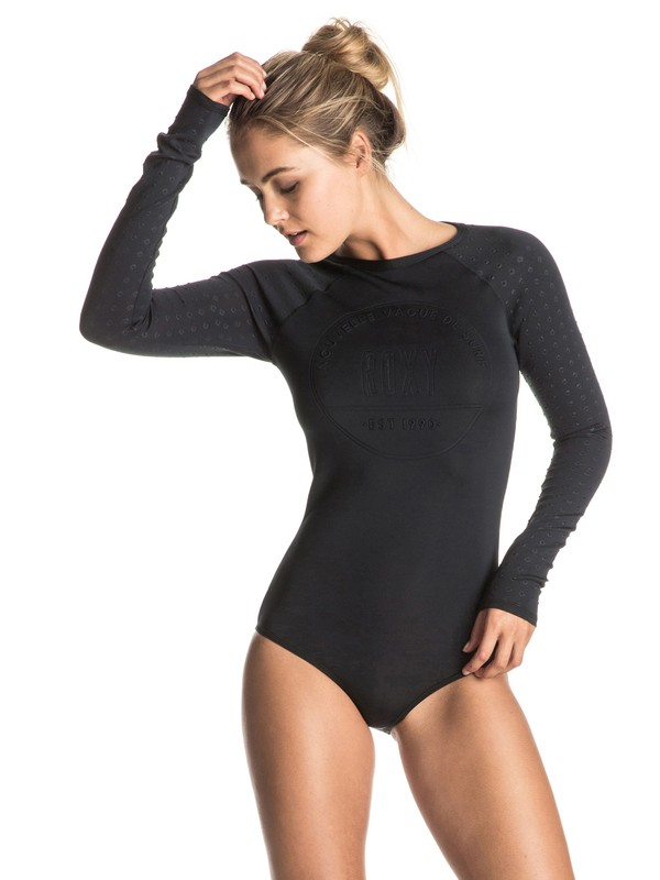 0 Pop Surf Long Sleeve One Piece Swimsuit  ERJWR03072 Roxy